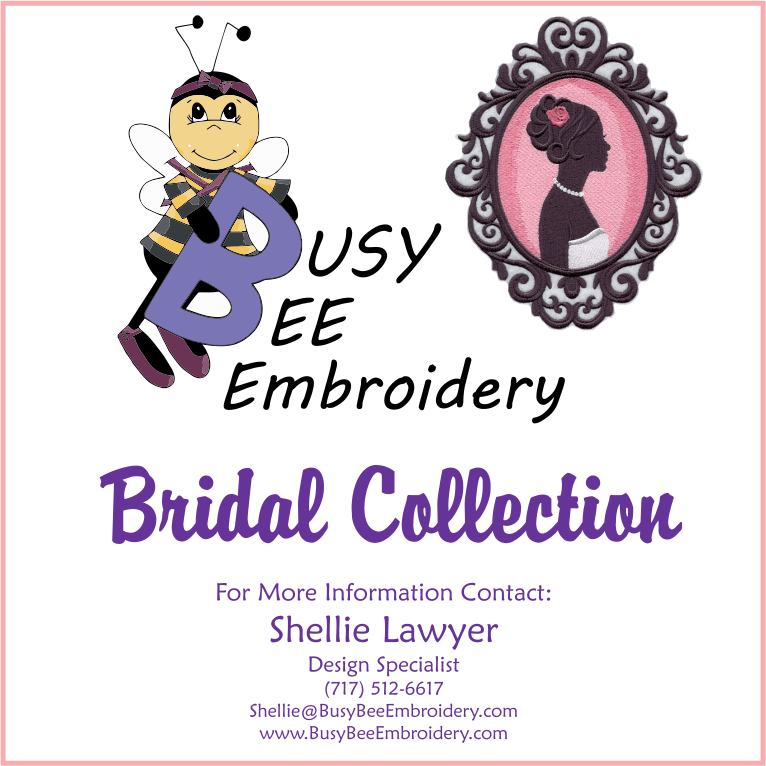 Bbe brides busy bee embroidery