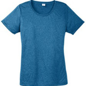 Sport-Tek Ladies Heather Contender Scoop Neck Tee