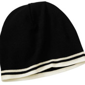 Port and Company Fine Knit Skull Cap with Stripes
