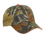 Camouflage Brushed Cotton Twill Sandwich Visor Low Profile